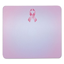 "3M™ Mouse Pad with Precise Mousing Surface, 9"" x 8"" x 1/4"", Pink Ribbon Design"