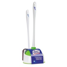 "LYSOL® Brand Lysol Bowl Brush with Plunger and Caddy, 20 1/4"", White/Green"