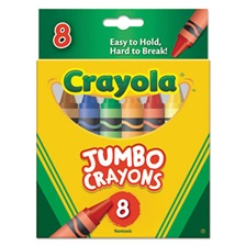 Crayola® So Big Crayons, Large Size, 5 x 9/16, 8 Assorted Color Box