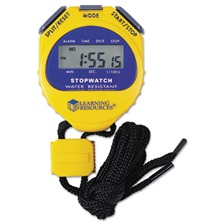 Learning Resources® Big Digit Stopwatch, Waterproof, 1/100 Second, Alarm, Yellow