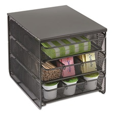 Safco® 3 Drawer Hospitality Organizer, 7 Compartments, 11 1/2w x 8 1/4d x 8 1/4h, Bk