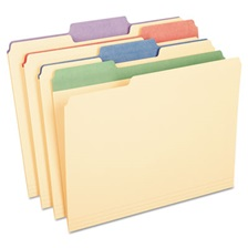 "Pendaflex® Color Tab File Folders, 1/3 Cut, 3/4"" Exp., Letter, 50/BX"