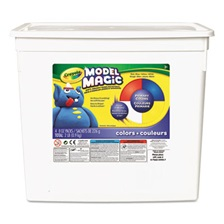 Crayola® Model Magic Modeling Compound, 8 oz each Blue/Red/White/Yellow, 2lbs.