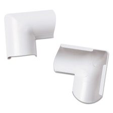 D-Line® Clip-Over Door Top Bend for Mini Cord Cover, White, 2 per Pack