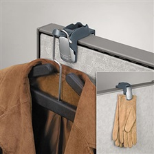Fellowes® Pro Series Partition Additions Coat Hook & Clip, 1 5/8 x 2 3/4 x 3, Slate Gray