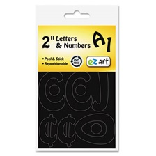 "Identity Group Self-Adhesive Caps & Numbers, Hobo, Black, 2"", 79 Pack"