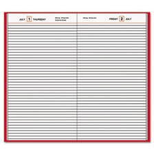 AT-A-GLANCE® Standard Diary Daily Diary, Recycled, Red, 7 11/16 x 12 1/8, 2017