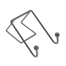 Fellowes® Partition Additions Wire Double-Garment Hook, 4 x 6, Black