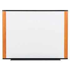 3M™ Melamine Dry Erase Board, 72 x 48, Light Cherry Frame