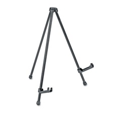 "Universal® Portable Tabletop Easel, 14"" High, Steel, Black"