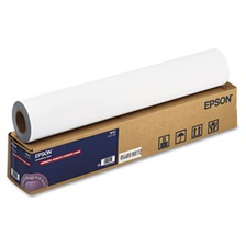 "Epson® Enhanced Adhesive Synthetic Paper, 24"" x 100 ft, White"