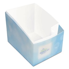 "Kleenex® Desk Caddy, 11 8/10"" x 6 9/10"" x 11 3/10"", Blue, 24/Carton"
