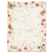 Geographics® Design Paper, 24 lbs., Butterflies, 8 1/2 x 11, White, 100/Pack