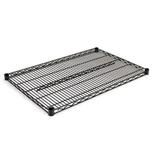 Alera® Industrial Wire Shelving Extra Wire Shelves, 36w x 24d, Black, 2 Shelves/Carton
