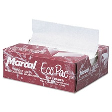 Marcal® Eco-Pac Interfolded Dry Wax Paper, 6 x 10 3/4, White, 500/Pack, 12 Packs/Carton