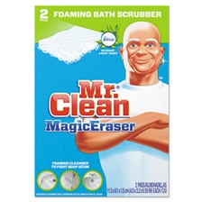 "Mr. Clean® Magic Eraser Bathroom Scrubber, 4 1/2"" X 3 1/5"", 2/Box"