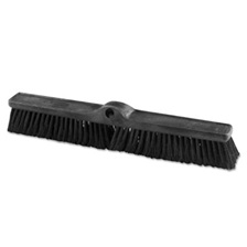 "Rubbermaid® Commercial Heavy Duty Push Broom Rough Surface, 24"" x 3"", Black, Polypropylene, 12/Carton"