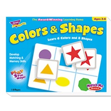 TREND® Colors and Shapes Match Me Puzzle Game, Ages 4-7