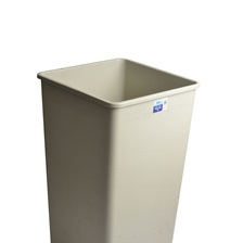 44 Gal. Square Garbage Can Beige