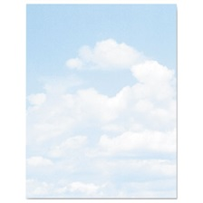 Geographics® Design Suite Paper, 24 lbs., Clouds, 8 1/2 x 11, Blue/White, 100/Pack