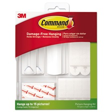 Command™ Picture Hanging Kit, White/Clear, Assorted