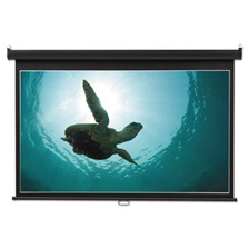 Quartet® Wide Format Wall Mount Projection Screen, 52 x 92, White