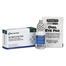 First Aid Only™ Eyewash Set w/Eyepads and Adhesive Strips