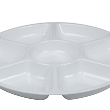 Platter Pleasers 14'' 7 Compartment Tray - 3507-WH