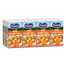 Ocean Spray® Aseptic Juice Boxes, 100% Orange, 4.2oz, 40/Carton