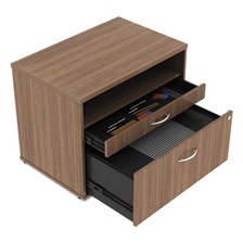 Alera® Alera Open Office Series Low File Cabinet Credenza, 29 1/2x19 1/8x22 7/8,Walnut