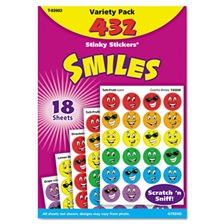 TREND® Stinky Stickers Variety Pack, Smiles, 432/Pack