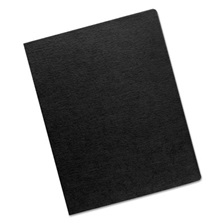 Fellowes® Linen Texture Binding System Covers, 11-1/4 x 8-3/4, Black, 200/Pack