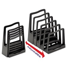 Avery® Adjustable File Rack, Five Sections, 8 x 10 1/2 x 11 1/2, Black
