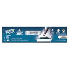 "Swiffer® Bissell SteamBoost Mop, 10"" Wide Head, 48"" Handle, Blue, 2/Carton"
