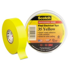 "3M™ Scotch 35 Vinyl Electrical Color Coding Tape, 3/4"" x 66ft, Yellow"