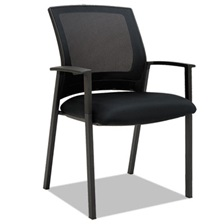 Alera® Alera ES Series Mesh Stack Chairs, Black, 2 per Carton
