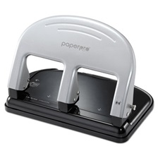 PaperPro® inPRESS Three-Hole Punch, 40-Sheet Capacity, Black/Silver