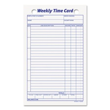 TOPS™ Employee Time Card, Weekly, 4 1/4 x 6 3/4, 100/Pack