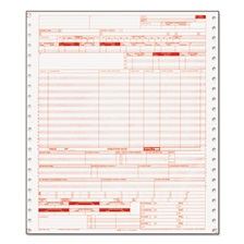 Paris Corporation UB04 Insurance Claim Form, 1-Part Continuous White, 9 1/2 x 11, 2500 Forms