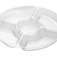 Platter Pleasers 12'' 5 Compartment Tray - 3506-CL