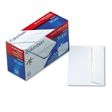 Columbian® Grip Seal Security Tint Business Envelope, #6 3/4, 3 5/8 x 6 1/2, White, 55/Box
