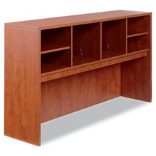 Alera® Alera Valencia Series Open Storage Hutch, 64-3/4w x 15d x 35-1/2h, Medium Cherry