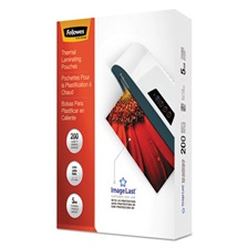 Fellowes® ImageLast Laminating Pouches with UV Protection, 5mil, 11 1/2 x 9, 200/Pack