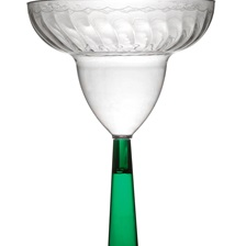 Flairware 12 oz. MARGARITA GLASS - 2312-GRN