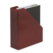 Rolodex™ Wood Tones Magazine File, 3 1/2 x 10 1/4 x 11 3/4, Mahogany