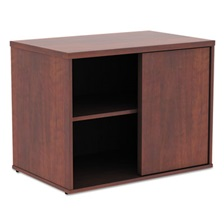 Alera® Alera Open Office Low Storage Cabinet Credenza, 29 1/2 x 19 1/8x 22 7/8, Cherry
