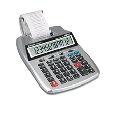 Canon® P23-DHV 12-Digit Printing Calculator, Purple/Red Print, 2.3 Lines/Sec