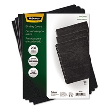 Fellowes® Classic Grain Texture Binding System Covers, 11-1/4 x 8-3/4, Black, 200/Pack