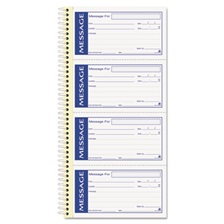 Adams® Write 'n Stick Phone Message Pad, 2 3/4 x 4 3/4, Two-Part Carbonless, 200 Forms