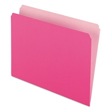 Pendaflex® Colored File Folders, Straight Cut, Top Tab, Letter, Pink/Light Pink, 100/Box